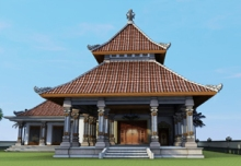 Puri - Balinese Architecture House Overall View